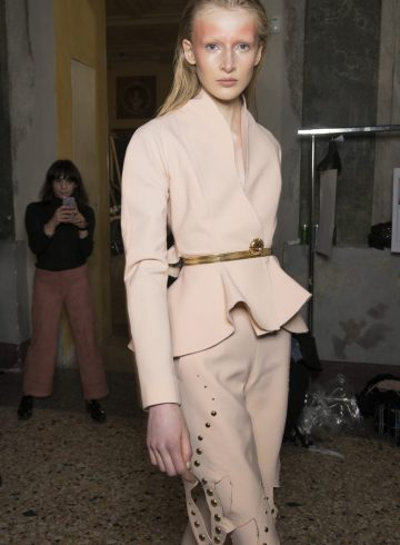 Francesco Scognamiglio Fall 2017 Fashion Show Backstage
