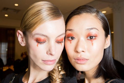 Christian Siriano Fall 2017 Fashion Show Backstage Beauty
