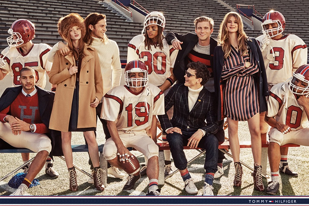 "Tommy Hilfiger's fall 2015 ad campaign featuring ""Team Hilfiger"" photo"