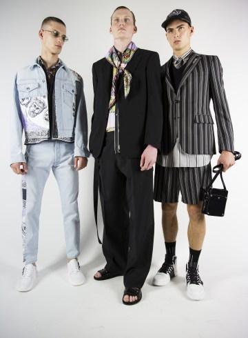 Versace Spring 2018 Men's Fashion Show Backstage