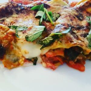 Gousto Four veg ratatouille lasagne.