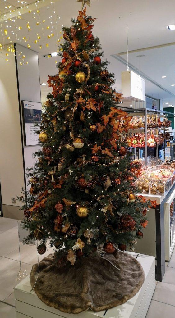 john lewis christmas shop, woodland christmas tree, woodland creatures