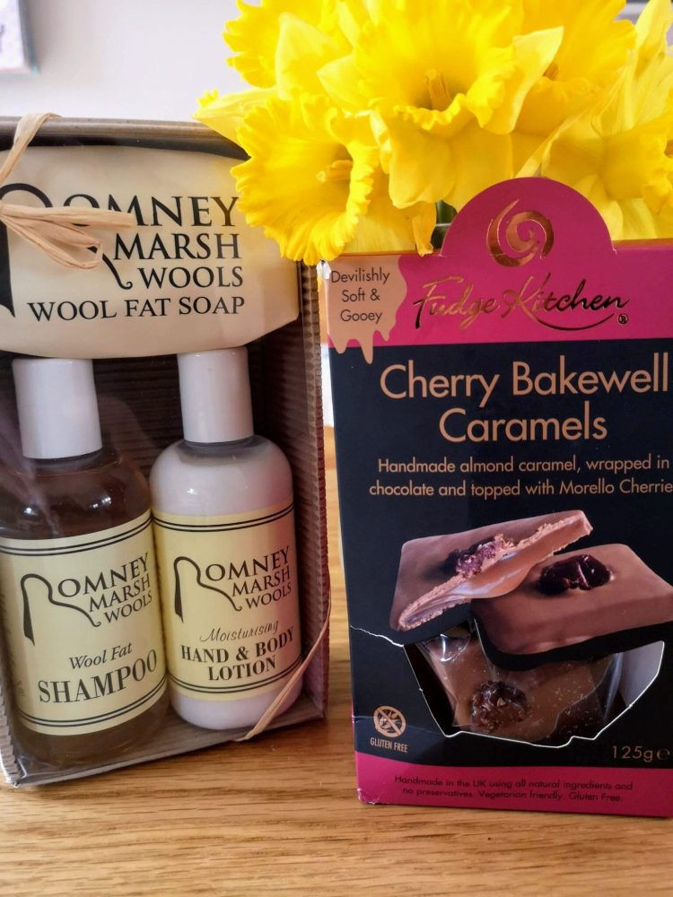 Romney Marsh wool fat soap and Fudge Kitchen caramels, mother's day gifts