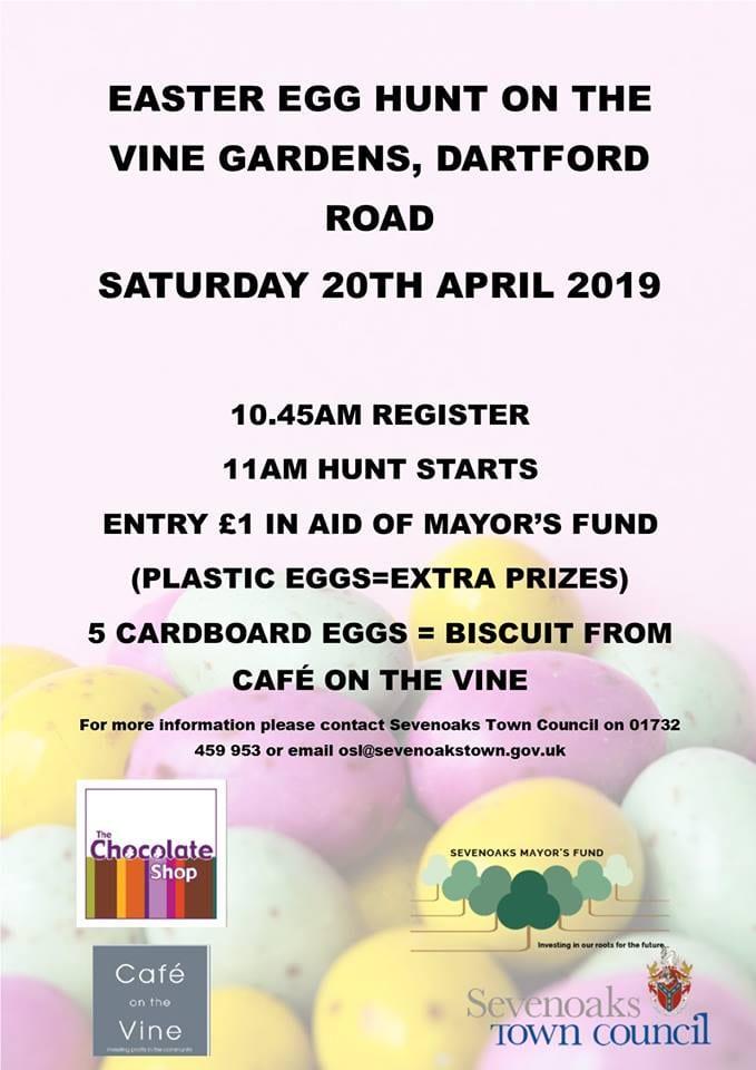 Easter egg hunt, Vine gardens, sevenoaks, easter holidays