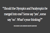 Paralympics and Olympics: Should they merge into one?