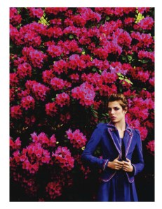 Charlotte Casiraghi Blue and Flowers