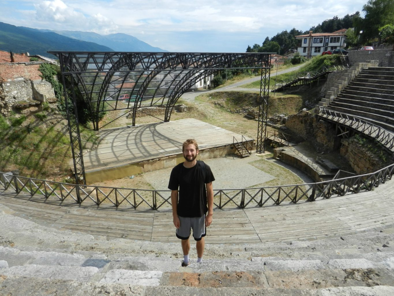 Nathanael in the Amphitheatre in Ohrid, Macedonia