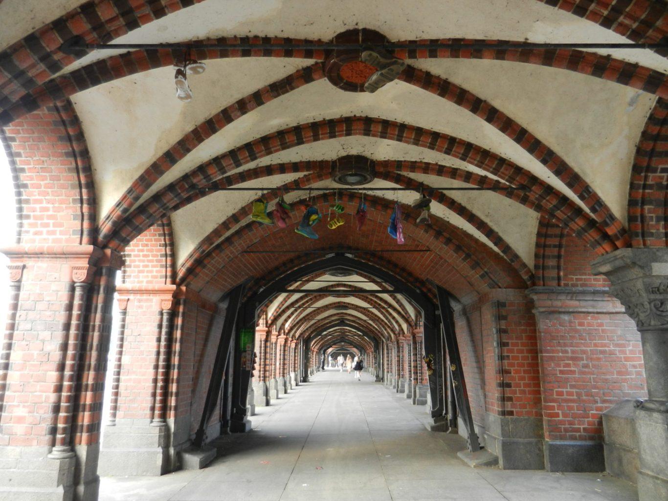 Underneath Oberbaum Bridge, Berlin, Germany