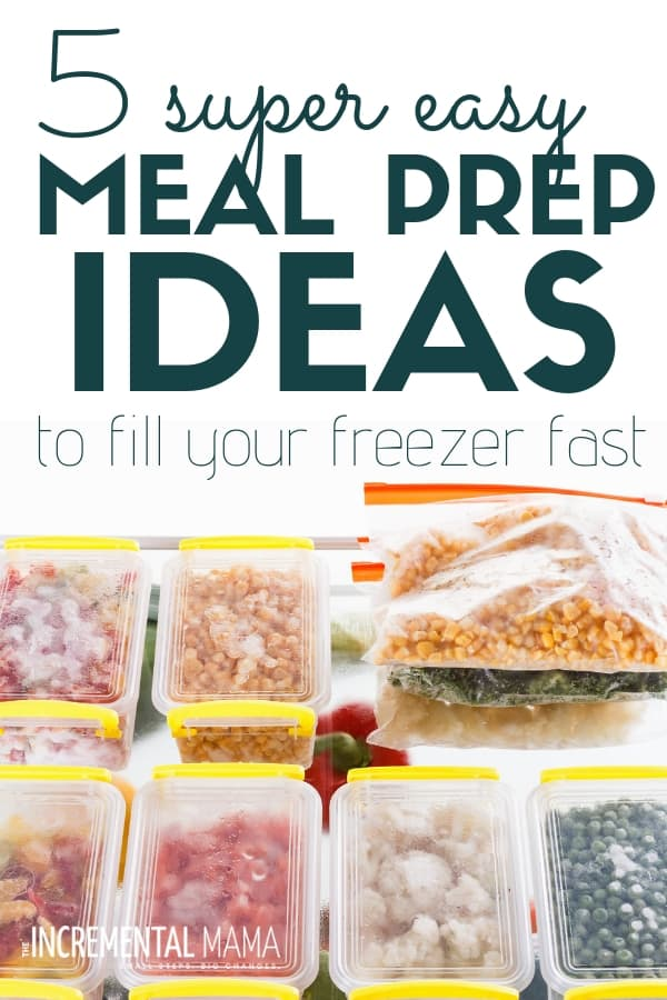 5 insanely easy meal prep ideas for beginners. Easy make ahead freezer meals your family will love. #easymealprepideas #mealprepforbeginners #easyfreezermeals