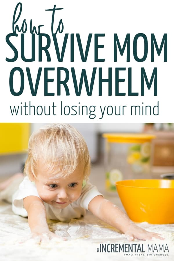Conquer mom overwhelm and a create a happier and healthier mom life with these 11 tips to survive being a mom to little kids (from a mom of 4 kids 5 and under)! #4kids5andunder #tipsformoms #overwhelmedmom
