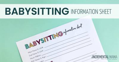 Babysitting Information Printable
