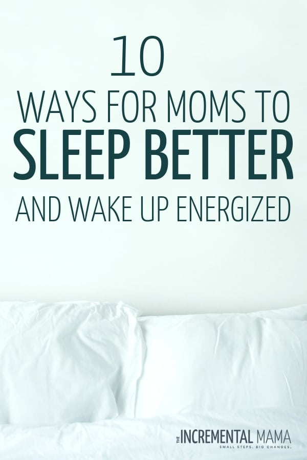 Moms don't get enough sleep. But with these tips, you can get better sleep at night, kick nighttime insomnia and anxiety, and make falling asleep way easier. #sleepbetteratnight #bettersleep #fallingasleeptips