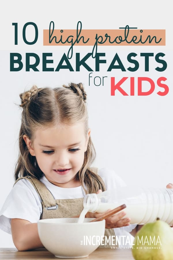 Want healthy breakfast ideas for your picky eaters? Check out these 10 simple high protein breakfasts your kids will love in the mornings. #healthybreakfastideas #proteinbreakfast #healthybreakfastforkids