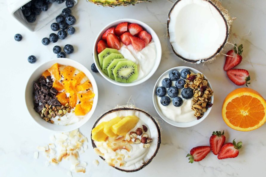 high protein breakfasts for kids yogurt bowl