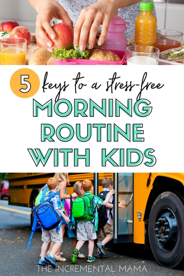 5 Keys to a Stress-Free Morning With Kids #parenting #morningroutine