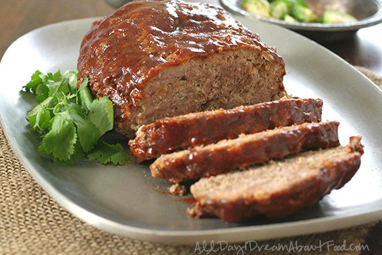 low carb BBQ meatloaf
