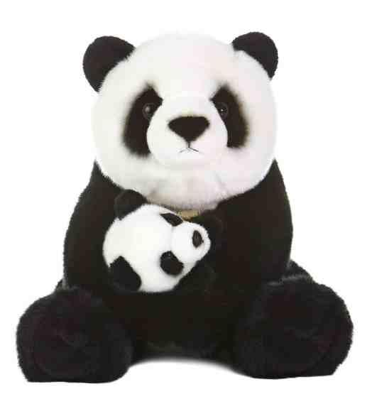 panda plushie mama and baby