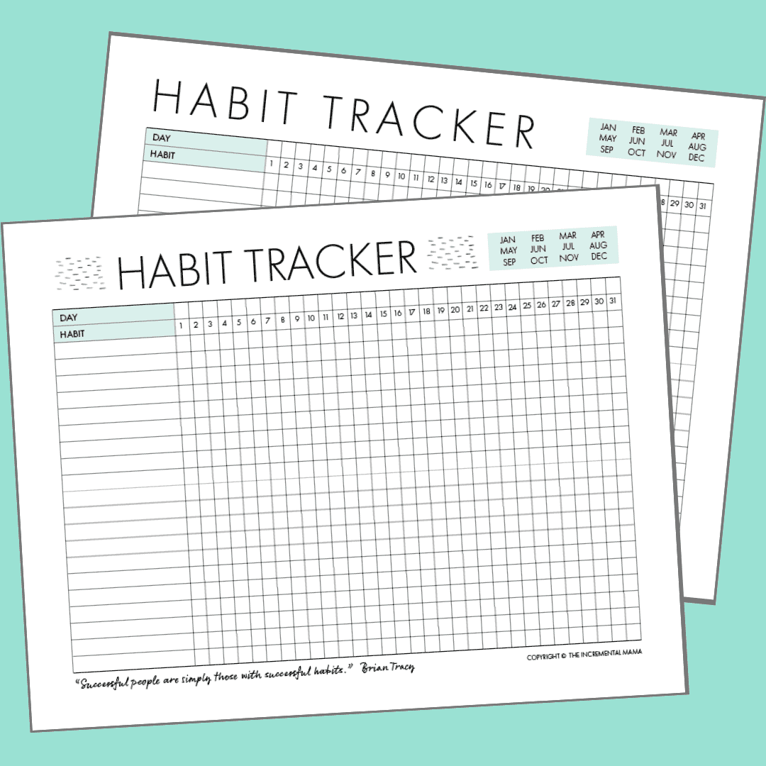 image regarding Free Habit Tracker Printable titled No cost Day-to-day Pattern Tracker Printable (and How in direction of Seek the services of it in the direction of