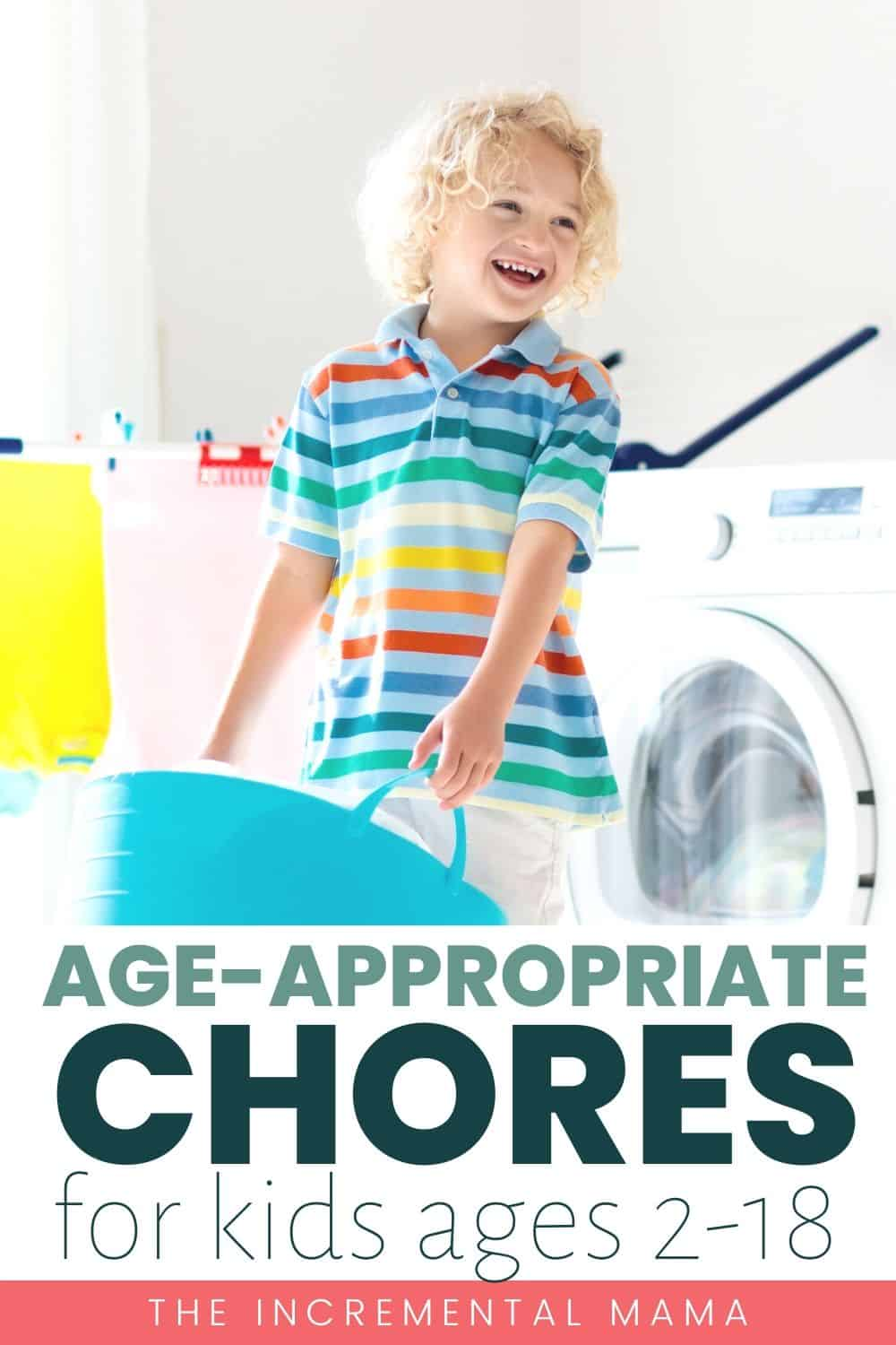Free printable chore chart by age