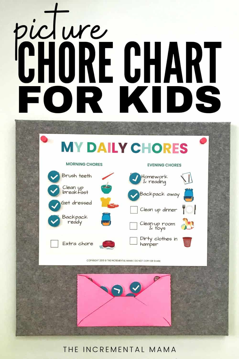 picture relating to Printable Chore Chart for 5 Year Old titled No cost Printable Chore Chart for 5-6 12 months Olds - The
