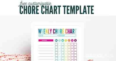 weekly customizable chore chart
