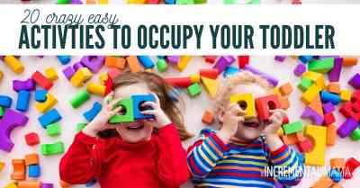 easy mess-free toddler activities