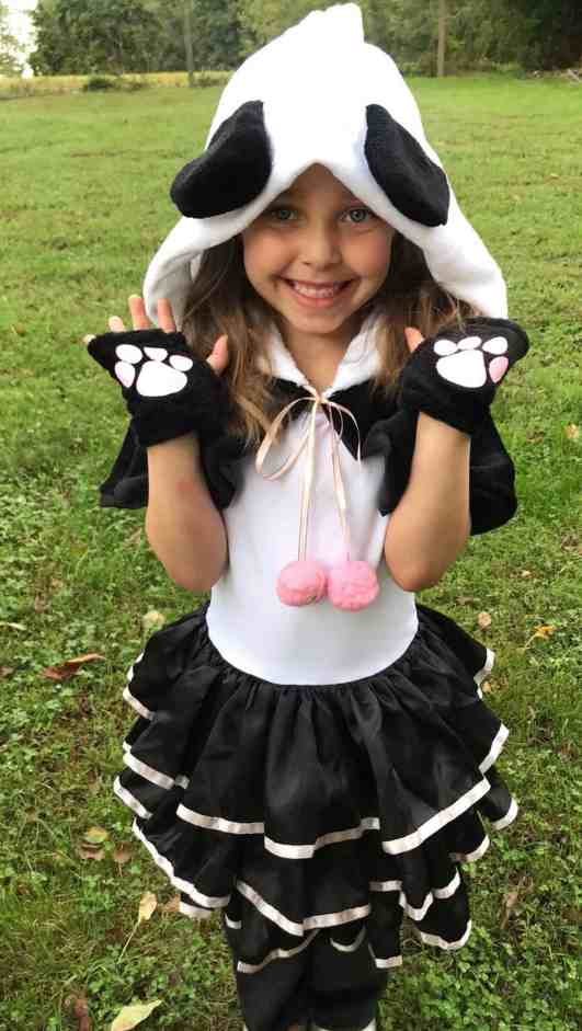panda costume for girls