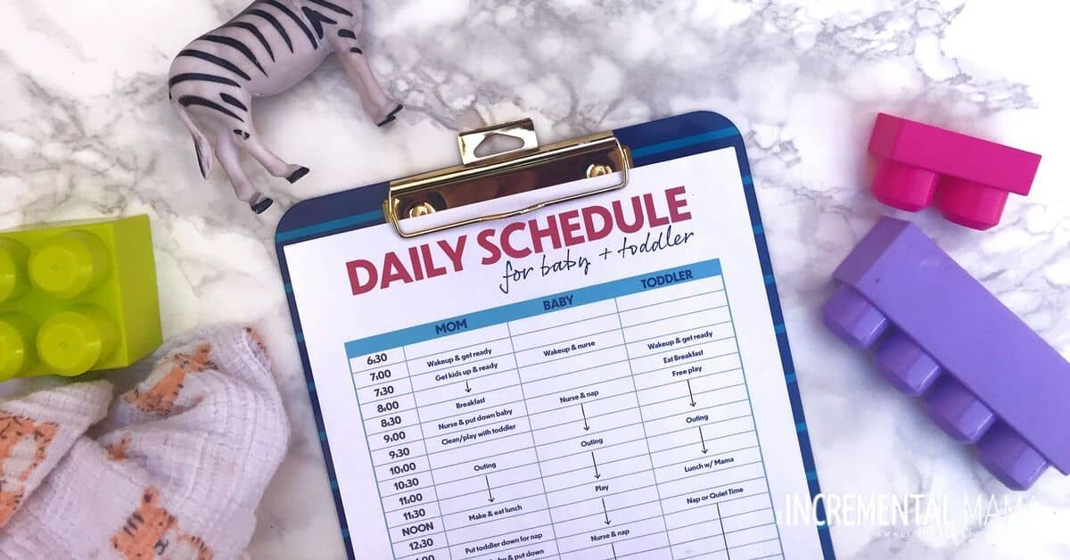 Stay At Home Mom Schedule For A Toddler And Baby Free