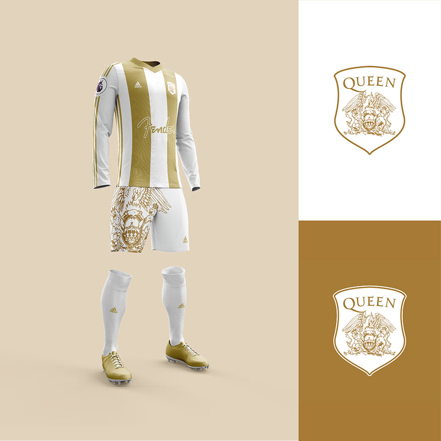 Queen football kit