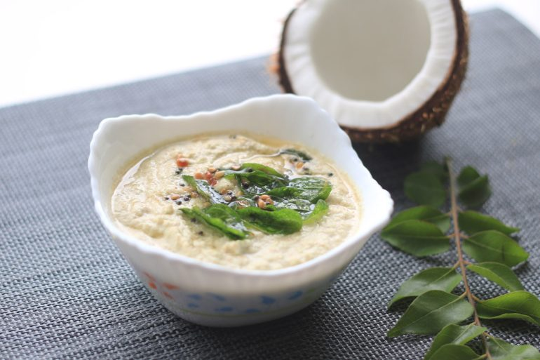 Coconut Chutney - South Indian Coconut Chutney - The Indian Claypot