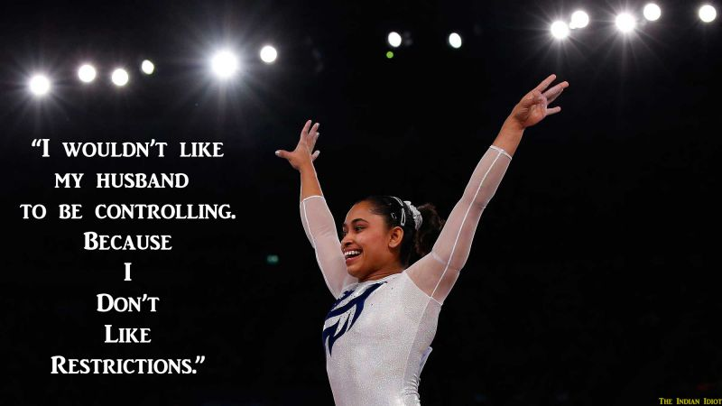 Dipa Karmakar Quotes Indian Gymnast