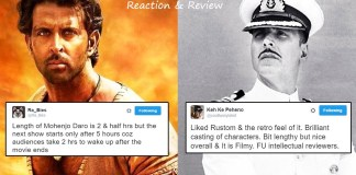 Mohenjo Daro Rustom movie review and reaction twitter