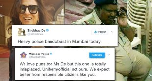 Mumbai Police Reply To Shobhaa De's Pun Goes Viral On Twitter