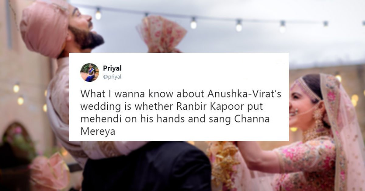 Hilarious Tweets About Virat Kohli & Anushka Sharma's Wedding