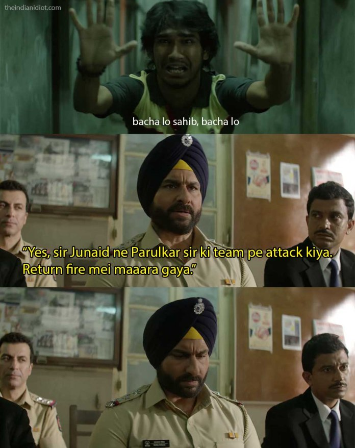 Sacred Games quotes and scenes: sartaj