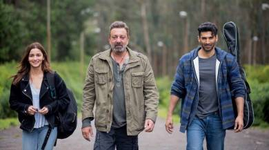 2 men and a woman walking in a till from the new movie sadak 2
