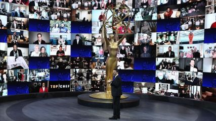 in image scene from the virtual hosting of emmy 2020