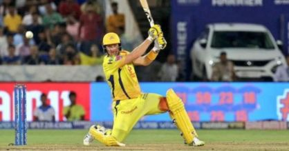 Shane Watson batting in the ipl final of 2019 with a bleeding knee