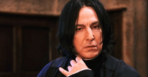 in photo the character of professor snape from the movie series of harry potter