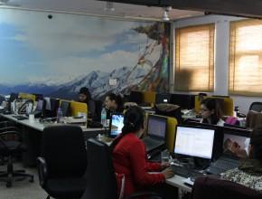 les bureaux de Shanti Travel à Delhi