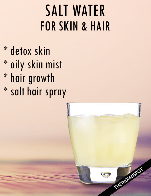 Salt Water For Skin And Hair