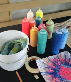 Bright paints in squeeze bottles