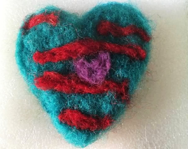 Felting a Heart <3