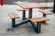 Industrial Outdoor Picnic Table