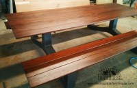 Outdoor Modern Industrial Style IPE Picnic Table - The ...