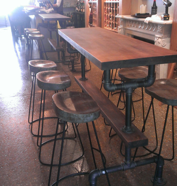 Industrial Farmhouse Bar Height Kitchen Table
