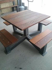 Outdoor Modern Industrial Style Picnic Table - The ...