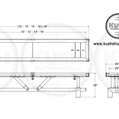 Table Shuffleboard Dimensions Diagram 2006 Kia Sedona Wiring Signature The Industrial Farmhouse