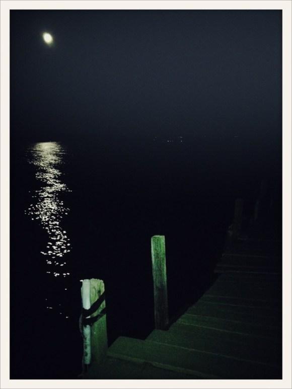 Moonlight on Lake Cayuga