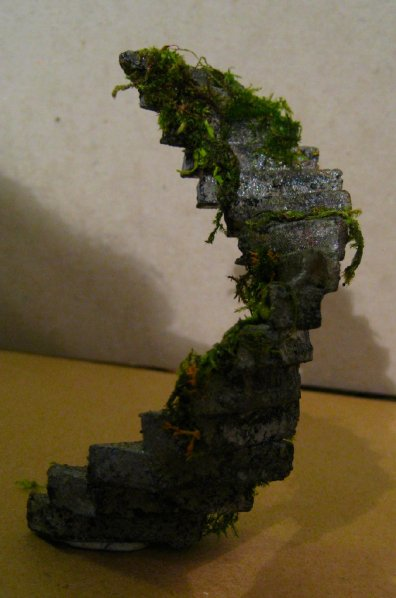 with moss and slime